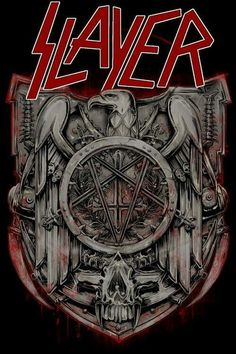 An awesome Slayer poster for any fan of the best Thrash Metal band on the planet! Check out the rest of our great selection of Slayer posters! Need Poster Mounts. Heavy Metal Rock, Heavy Metal Bands, Arte Heavy Metal, Heavy Metal Music, Thrash Metal, Metallica, Rock Posters, Band Posters, Rock Logos