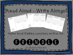 This is the first in a new series that I've created, called READ ALOUD-WRITE ALONGS!I have written higher level thinking questions aligned with the common core to go with each chapter of popular classroom read alouds. These tri-folds will help to keep your students engaged as you read to them, and are a great, quick way to encourage important writing skills every day. **************************************************Follow my store for product updates--I add new products often!Here are…