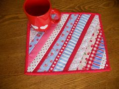 Valentine Mug Rug Snack Mat Candle Mat by ForgetMeNotQuilteds