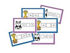 Atelier numération : suite numérique des nombres jusqu'à 101 French Teaching Resources, Teaching French, 1st Grade Math, First Grade, Montessori Math, File Folder Games, Math Numbers, Busy Bags, Math For Kids