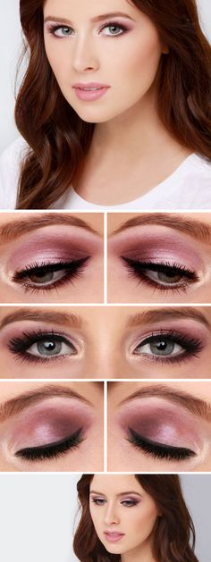 Vamp up your Valentine's day makeup with this lovely smokey lavender eye.