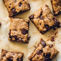 Almond Butter Oatmeal Chocolate Chip Cookie Bars \ These are the bomb.com!! made these with tahini and peanut butter as almond butter is super hard to find where I live.
