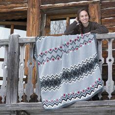 Tricoter un plaid aux motifs jacquard