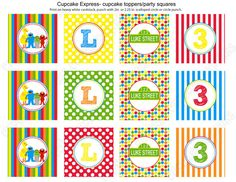 DIY Sesame Street Inspired  PRINTABLE  Birthday Cupcake Toppers red blue green orange yellow Personalized. $10.00, via Etsy.