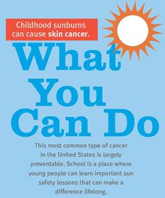 Parents: Learn what you can do to help your kids stay sun-safe at school (PDF)