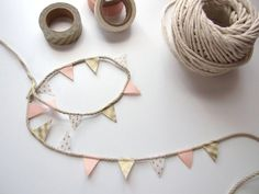 D.I.Y. Washi Tape Bunting - Gathering Beauty
