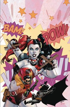 Batman and Robin #39-DC Comics February 2015 Theme Month Variant Covers Revealed - Harley Quinn - Comic Vine