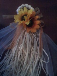 Rustic Fall Sunflower aisle bows : wedding ceremony country diy fall flowers gold orange wedding aisle white yellow 096