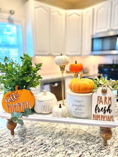 Kitchen Island Centerpiece, Kitchen Countertop Decor, Kitchen Decor, Fall Apartment Decor, Fall Home Decor, Holiday Decor, Fall Dining Table, Dining Room, Wood Tray