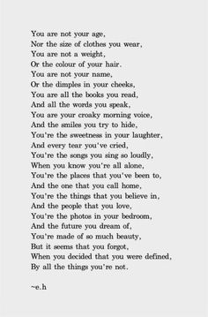 Erin's beautiful words which should be dedicated to all our daughters and so it is. Erin Hanson I salute you fine lady. Eh Poems, Poem Quotes, Good Poems, Poems Porn, 20 Line Poems, Poems That Rhyme, Amazing Poems, Happy Poems, Teacher Quotes
