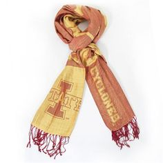 Iowa State Cyclones Ladies Woven Scarf – Cardinal/Gold