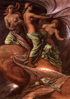 The Fates Gathering in the Stars by Elihu Vedder Greek Pantheon, Oil Painting Gallery, Daughter Of Zeus, Professional Painters, Triple Goddess, World Images, Oil Painting Reproductions, Ancient Civilizations, Greek Mythology
