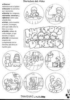 Actividades Escolares: actividades sobre los derechos del niño English Activities, Preschool Learning Activities, New Class, Activity Sheets, Education, Infants, Ps, Videos, Google