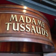 I love the various things happening behind the closed doors of Madame Tussauds