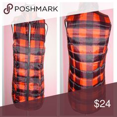 """Buffalo Plaid Puffer Vest Two front side pockets / traditional  quilted build / mock neck / 100% polyester  / Machine wash  Measurements - 5/6 Bust: 33-34 1/2 Waist: 27-28"""" Jackets & Coats Vests"""