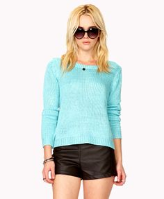 turquoise knitted sweater