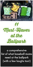 A comprehensive list of what baseball moms need at the ballpark. From wagons to portable fans, this list covers all the must-haves (with a few laughs too!) Kids sports hacks for parents. Baseball Snacks, Travel Baseball, Baseball Tips, Baseball Crafts, Baseball Mom, Baseball Season, Baseball Girlfriend, Baseball Stuff, Sports Baseball