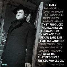 TCM 31 days of Oscar, The Third Man quote