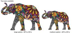 Elegant Elephant Wall Sticker