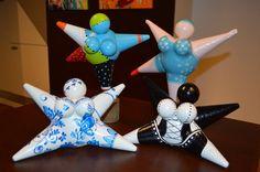 Dikke dame/Little fat lady Made bij Froukje van der Wal www Diy And Crafts, Crafts For Kids, Arts And Crafts, Paper Crafts, Paper Mache Clay, Paper Mache Sculpture, All Paper, Paper Art, Creation Deco