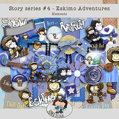 Story Series - Eskimo Adventures Kit The Eskimo Adventures is the fourth part of our Story series. Kit, Digital Scrapbooking, Adventure, Shop, Design, Fairytail, Design Comics, Store