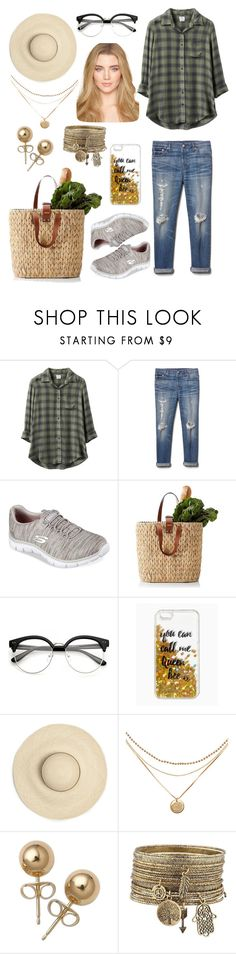 """""""farmers market"""" by dahliapeony ❤ liked on Polyvore featuring RVCA, Gap, Skechers, Queen Bee and Bling Jewelry"""