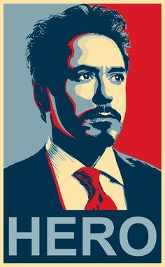 DeviantArt: More Like Tony Stark HERO Poster by Mishalicious