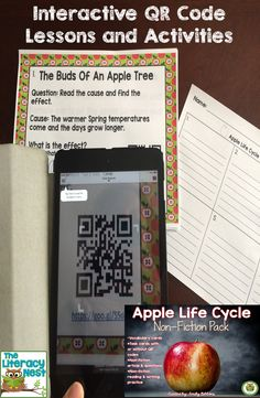 Apple themed ideas and apple themed activities: Explore QR codes in the classroom with this apple themed activity