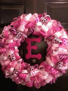Ribbon Wreath- Baby Shower gift for little girl
