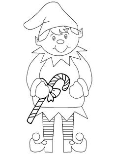 Print coloring page and book, Christmas # Elf Coloring Pages for kids of all ages. Updated on Tuesday, November 11th, 2014.