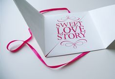 Wedding Invitation - Peter & Thessa by Melina de Cock, via Behance