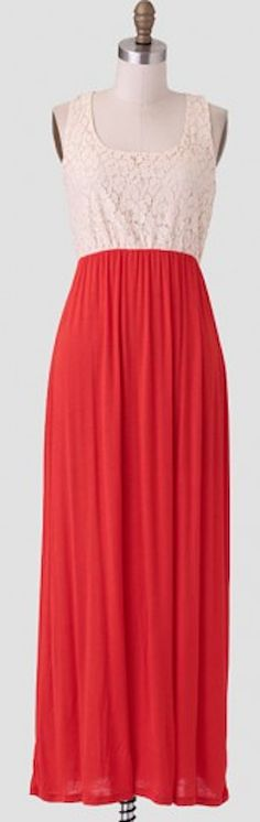 lace top #red maxi dress http://rstyle.me/n/iznqhr9te