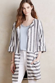 Striped Linen Coat
