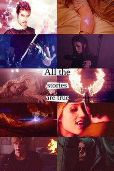 So theu took like four different movies and books and combined them but the quote is really from City of Bones!