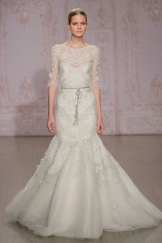 Stunning Monique Lhuiller gown: http://www.stylemepretty.com/2014/10/16/favorites-from-bridal-week-fall-2015/
