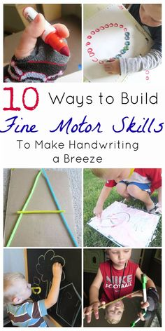 Fine motor skills lay the foundation for good handwriting.  These ideas from My Mundane and Miraculous Life will help your kids to develop better handwriting.  Grab these fun ideas that your kids will love.  #kids #activities #fun #parenting #handwriting #finemotor Fine Motor Activities For Kids, Motor Skills Activities, Gross Motor Skills, Sensory Activities, Preschool Activities, Sensory Kids, Preschool Centers, Work Activities, Preschool Curriculum
