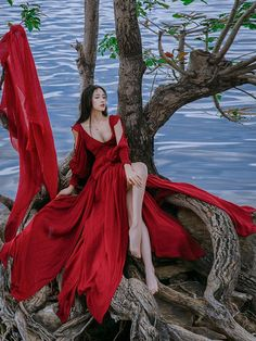 who wears red wedding dresses Photography Poses, Fashion Photography, Red Wedding Dresses, Red Maxi Dresses, Prom Dress, Fantasy Dress, Beautiful Asian Girls, Belle Photo, The Dress