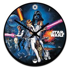 Star Wars Wood Wall Clock - Vandor - Star Wars - Clocks at Entertainment Earth