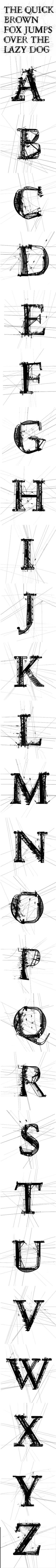 Garamond Powerline is a new typeface by Daniel Adolph Creative Typography, Typography Design, Simple Fonts, Design Art, Logo Design, Meraki, Typography Inspiration, Printmaking, Art Deco
