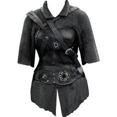chainmail - edited by mlleemilee and other apparel, accessories and trends. Browse and shop 8 related looks. Chainmail Shirt, Chainmail Armor, Narnia, Viking Armor, Medieval Armor, Costume Armour, Female Armor, Armadura Medieval, Leather Armor