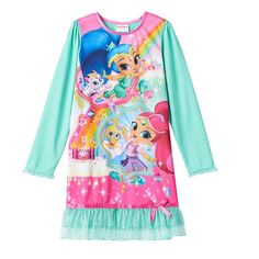 Girls 4-10 Shimmer & Shine Dorm Nightgown
