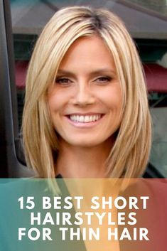 15 mesmerizing Short Hairstyles For Thin Hair To Catch Some Eyes - Short hairst. 15 mesmerizing Short Hairstyles For Thin Hair To Catch Some Eyes - Short hairstyles for women are always fascinating. if you have fine hair you need a perfect short - Oval Face Hairstyles, Bob Hairstyles For Fine Hair, Haircuts For Fine Hair, Short Hairstyles For Women, Female Hairstyles, Medium Haircut Thin Hair, Baddie Hairstyles, Hair Medium, School Hairstyles