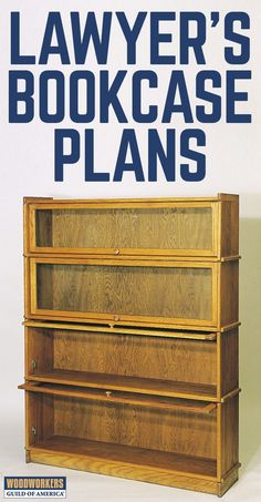 As common in law offices today as they were 100 years ago, traditional lawyer's bookcases are design Repurposed Wood Projects, Wood Projects That Sell, Wood Projects For Beginners, Easy Wood Projects, Project Ideas, Router Woodworking, Learn Woodworking, Easy Woodworking Projects, Popular Woodworking