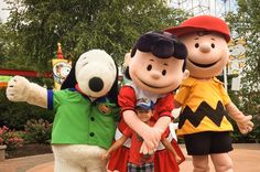 Snoopy, Lucy, Charlie Brown and Cash at Planet Snoopy - Worlds of Fun