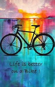 Digital Art - Better On A Bike by Nancy Merkle