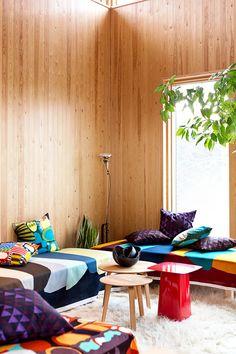 ISSUU - Marimekko paper autumn 2014 by Marimekko Marimekko, Design Your Kitchen, Bedroom With Ensuite, Blog Deco, Space Furniture, Beautiful Interiors, Home Collections, Cushion Covers, Decoration