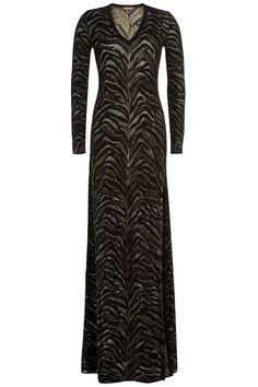 Roberto Cavalli - Floor-Length Jacquard Gown