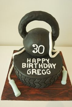 Hi everyone, Now if you're a fitness freak you've probably heard of this thing called 'Crossfit'. Ask those crazy crossfitters out there a. 50th Birthday Decorations, Themed Birthday Cakes, Themed Cakes, 30th Birthday, Birthday Parties, Birthday Ideas, Crossfit Cake, Fitness Cake, Party Food Themes