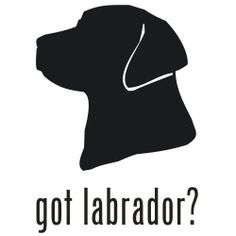 labrador silhouette clip art | Labrador dog decal sticker