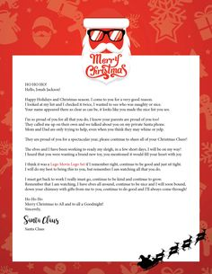 Letter from santa santa confirmation and etsy spiritdancerdesigns Choice Image